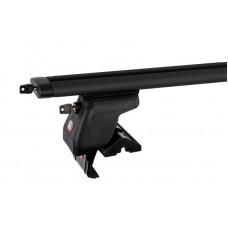 Багажник на крышу Amos Dynamic Black Plus (аэро-крыло с ключом) Dromader D-5 (1,3) [кожух с замками] для DAEWOO